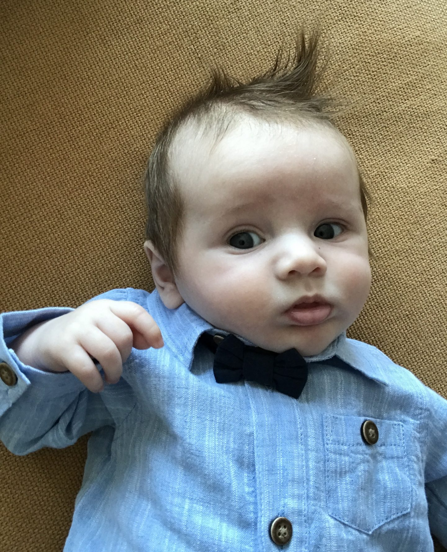 baby in a wedding suit