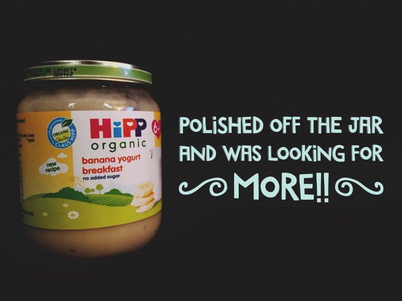 hipp organic banana yoghurt breakfast